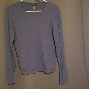 Gray Blue Soft Long Sleeve
